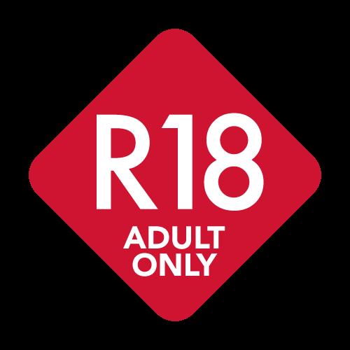 R18マーク 赤