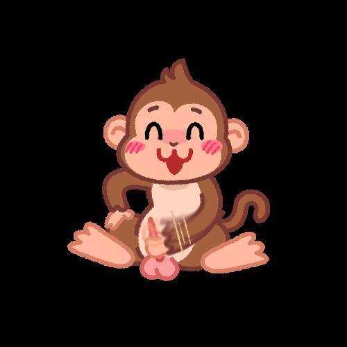 オナニーをする猿