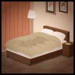 【背景】寝室のベッド
