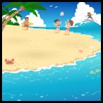 【背景】夏のビーチ01