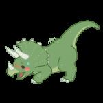 お尻を突き上げるメスの恐竜