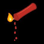 蝋がしたたる赤いローソク