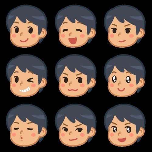 男性の色んな表情(キメ顔)