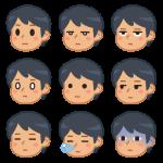 男性の色んな表情(無表情)