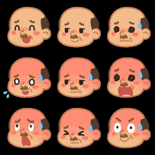 おじさんの色んな表情(赤面)