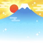 【背景】初日の出
