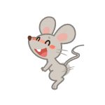 腰を振るオスのネズミ