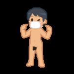 マスクの男性 立ち絵02