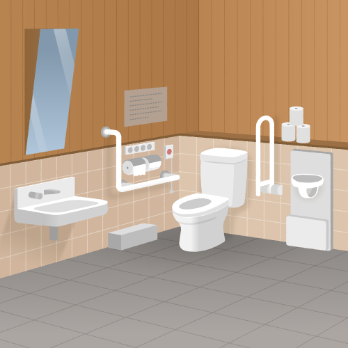 【背景】多目的トイレ