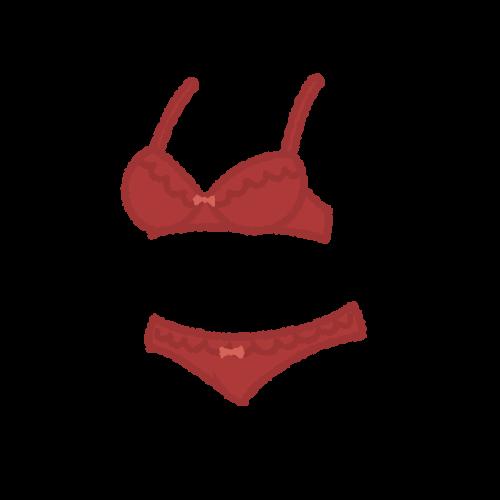 女性用下着(濃い赤)