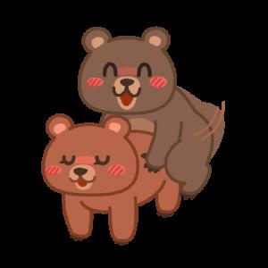 交尾をするクマ