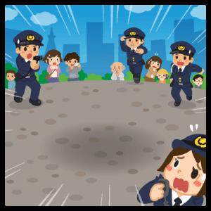 【背景】公園のポリスメン