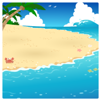 【背景】夏のビーチ03(無人)