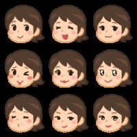 女性の色んな表情(キメ顔)