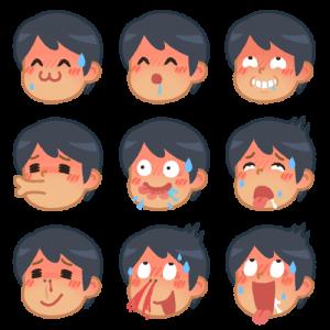 男性の色んな表情(変態)