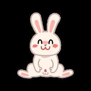 おっぴろげウサギ